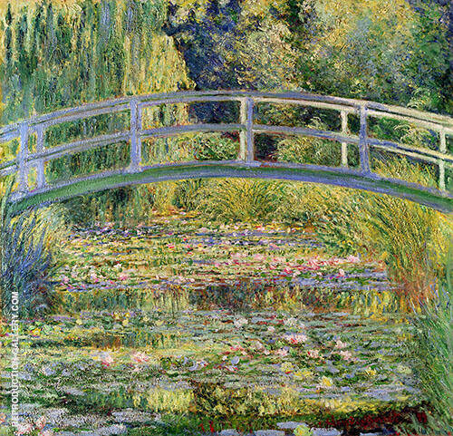 The Japanese Bridge Water Lily Pond 1899 - 2 By Claude Monet