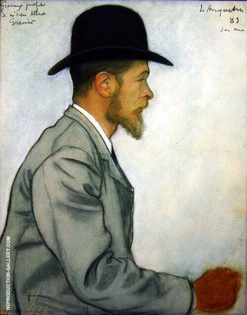 Albert Grenier 1889 Painting By Louis Anquetin - Reproduction Gallery