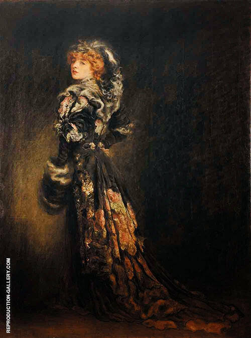 Andree Megard Dans Le Role d Anna Karenine 1907 Painting By Louis Anquetin