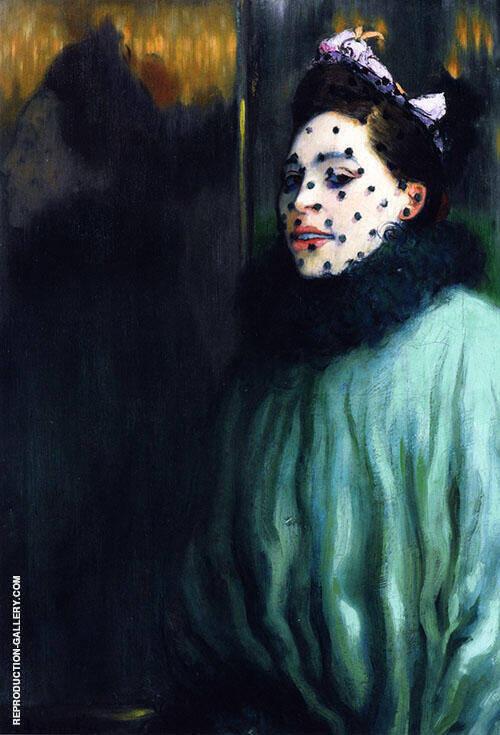 Femme a la Voilette 1891 By Louis Anquetin