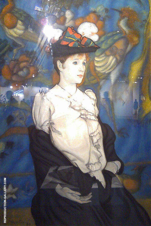 Femme Au Cha Painting By Louis Anquetin - Reproduction Gallery