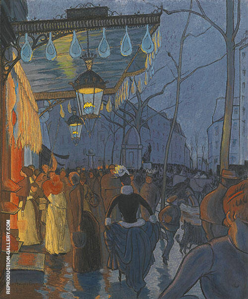 L'Avenue de Clichy Cinq Heures Du Soir 1887 By Louis Anquetin