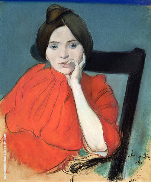Portrait of a Woman 1890 Painting By Louis Anquetin - Reproduction Gallery