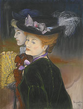 Two Ladies in The Wood 1889 By Louis Anquetin