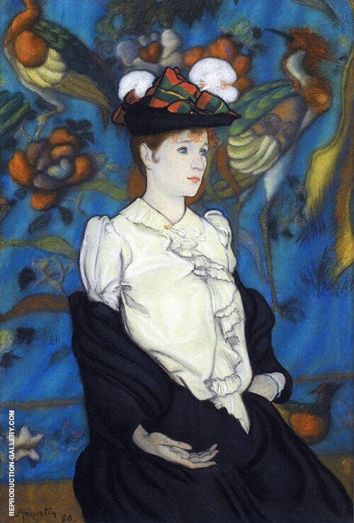 Woman with Hat Juliette 1890 Painting By Louis Anquetin