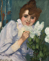 Woman with Lilacs 1892 By Louis Anquetin