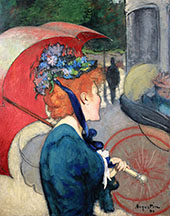 Woman with Umbrella 1891 By Louis Anquetin