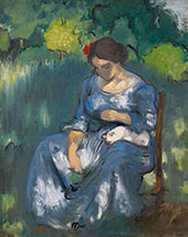 Women with a Cat 1892 By Louis Anquetin