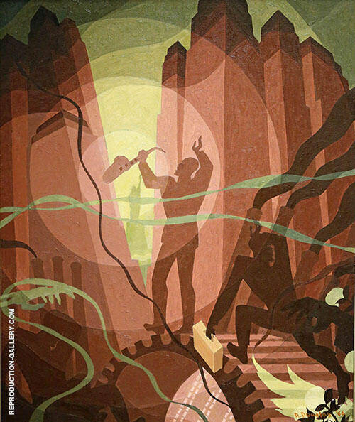 Song of The Towers By Aaron Douglas