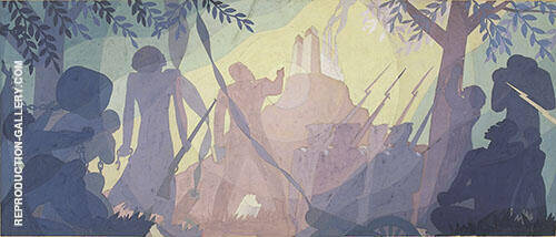 Study for Aspects of Negro Life An Idyll of The Deep South 1934 By Aaron Douglas
