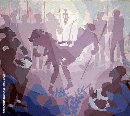 Study of Gods Trombones Painting By Aaron Douglas - Reproduction Gallery