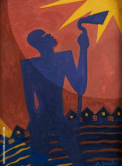 The Toiler 1937 By Aaron Douglas