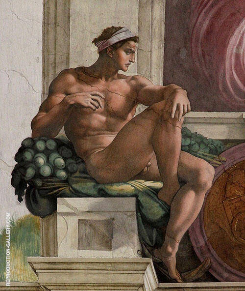 Ignudo Painting By Michelangelo - Reproduction Gallery