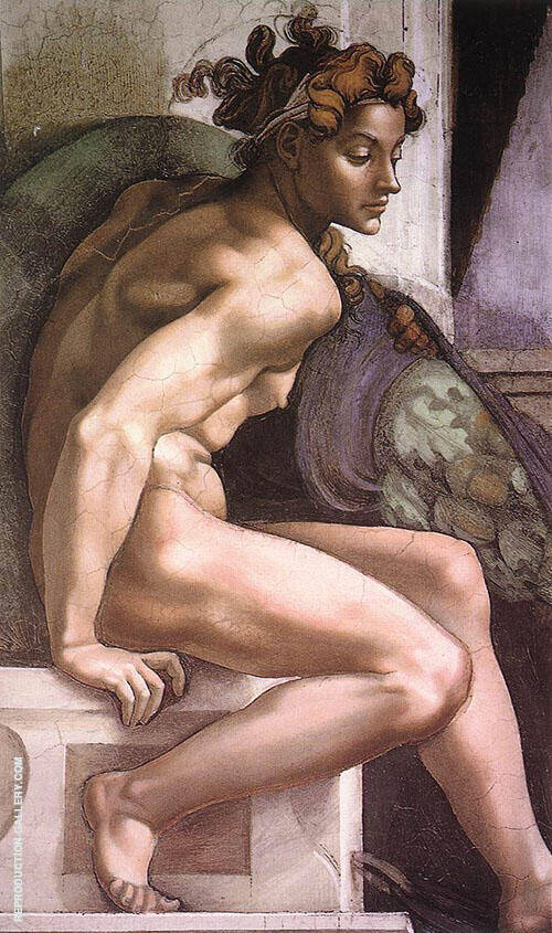 Ignudo 1509 I By Michelangelo