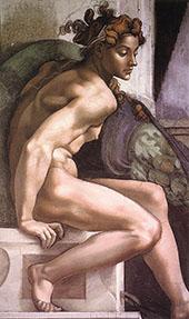 Ignudo 1509 I By Michelangelo