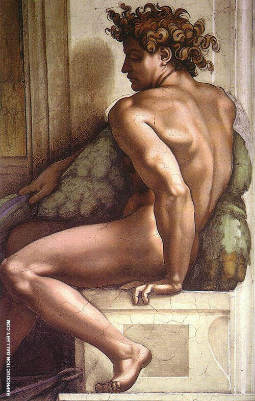 Ignudo 1509 II Painting By Michelangelo - Reproduction Gallery