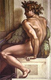 Ignudo 1509 II By Michelangelo