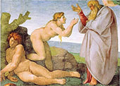 Sistine Chapel Ceiling Creation of Eve 1510 By Michelangelo