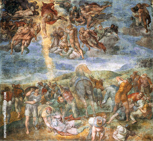 Conversion of Saul 1545 Painting By Michelangelo - Reproduction Gallery