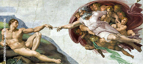 The Creation of Adam 1510 By Michelangelo