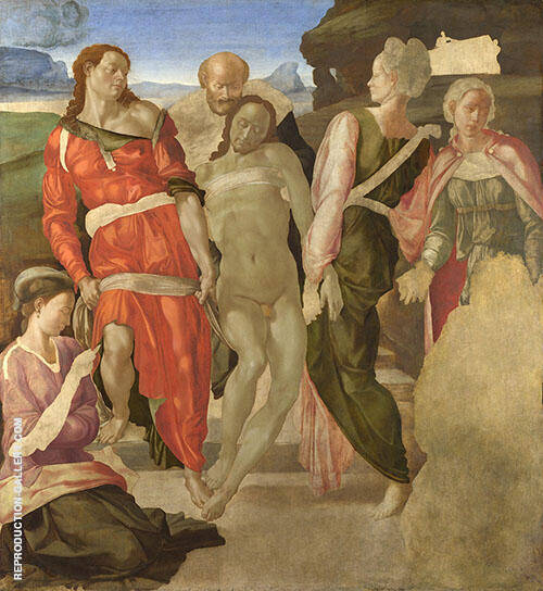 The Entombment 1501 Painting By Michelangelo - Reproduction Gallery