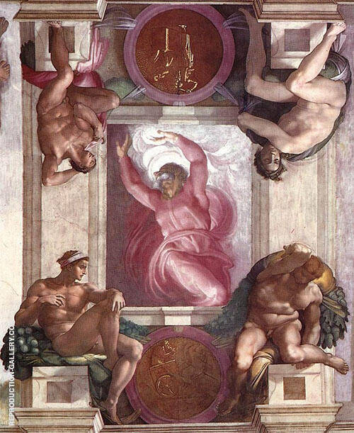 The First Day of Creation Painting By Michelangelo - Reproduction Gallery