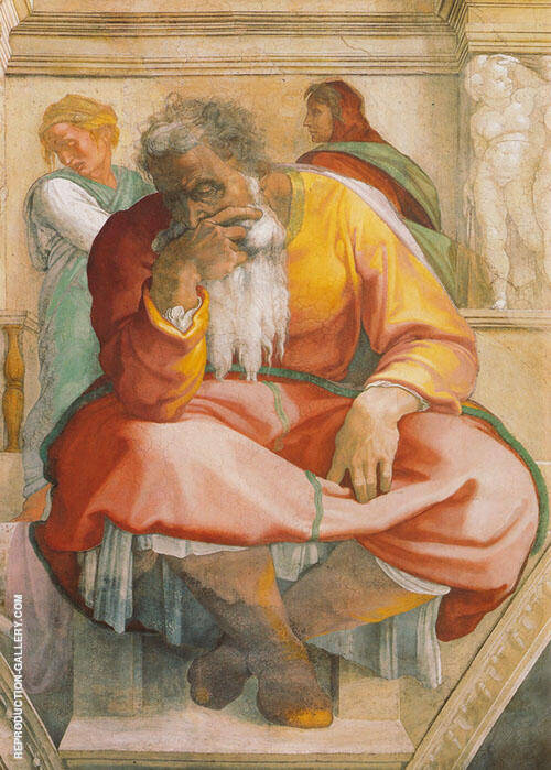 The Prophet Jeremiah 1511 Painting By Michelangelo - Reproduction Gallery