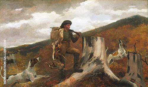 American A Huntsman and Dogs 1891 By Winslow Homer