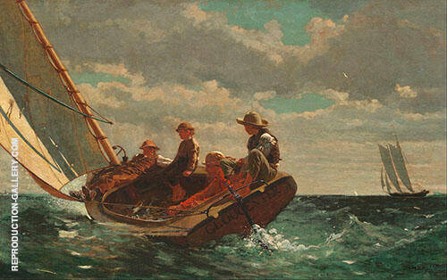 Breezing up 1873 By Winslow Homer
