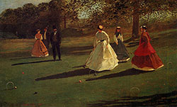Croquet Players 1865 By Winslow Homer