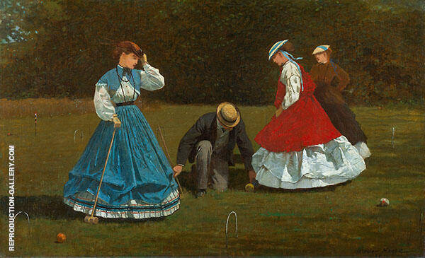 Croquet Scene 1866 By Winslow Homer