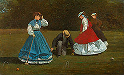 Croquet Scene 1866 By Winslow Homer