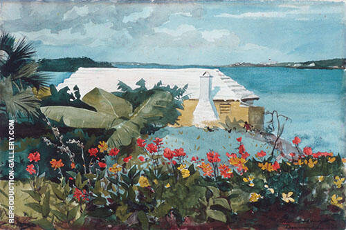 Flower Garden and Bungalow Bermuda 1899 By Winslow Homer