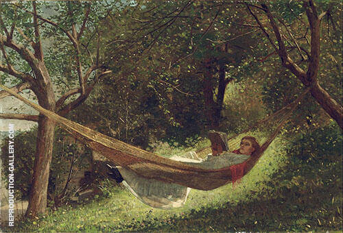 Girl in The Hammock 1873 By Winslow Homer