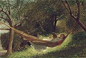 Girl in The Hammock 1873 By Winslow Homer