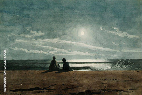 Moonlight 1874 By Winslow Homer