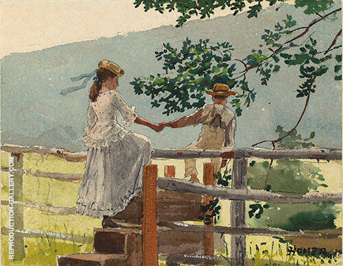 On the Stile 1878 By Winslow Homer