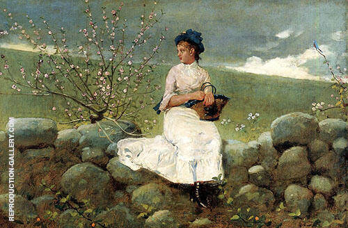 Peach Blossoms Painting By Winslow Homer - Reproduction Gallery