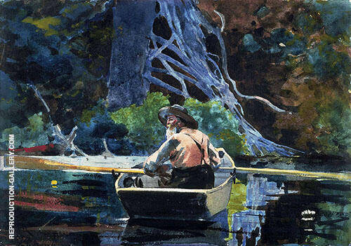 The Adirondack Guide 1894 Painting By Winslow Homer - Reproduction Gallery
