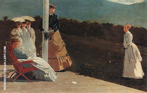 The Croquet Match 1869 By Winslow Homer