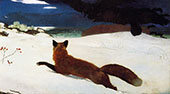 The Fox Hunt 1893 By Winslow Homer