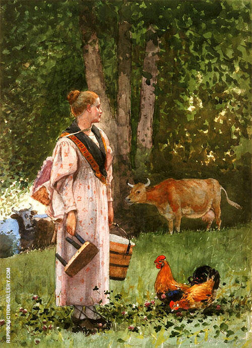 The Milk Maid 1878 Painting By Winslow Homer - Reproduction Gallery