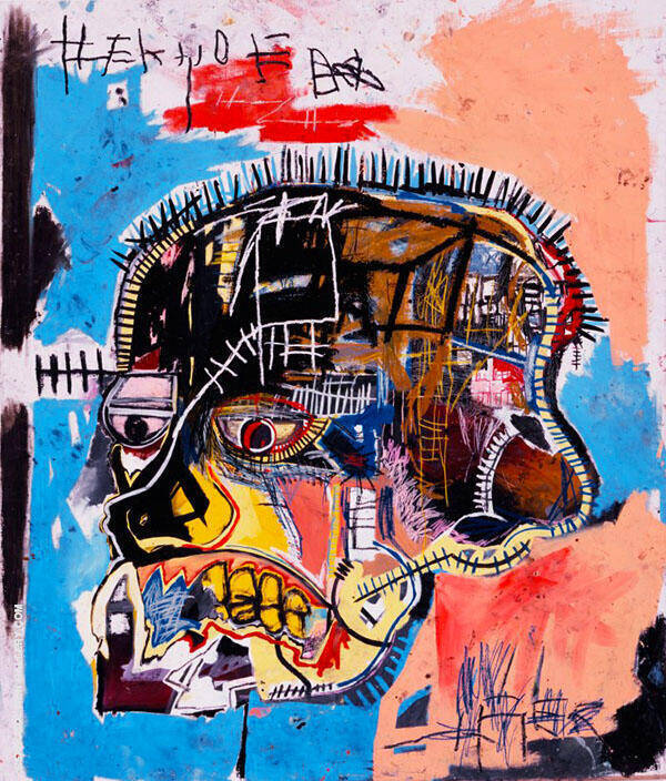 Untitled 1981 Skull By Jean-Michel-Basquiat