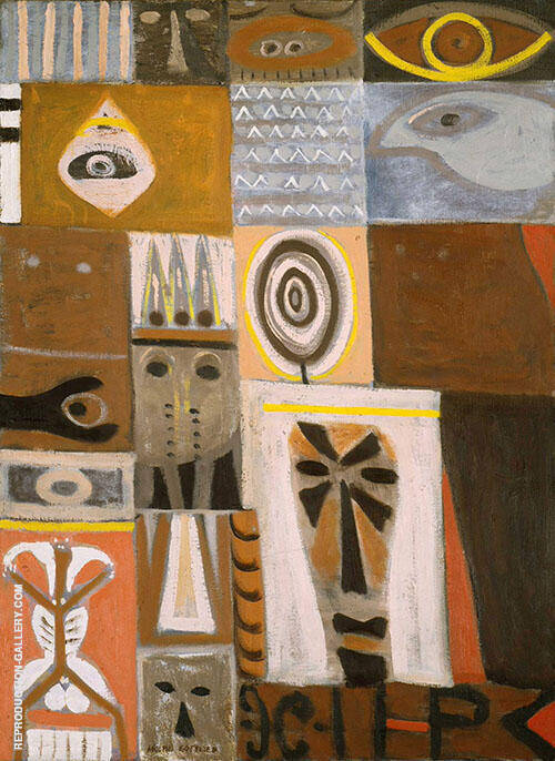 Augury Painting By Adolph Gottlieb - Reproduction Gallery