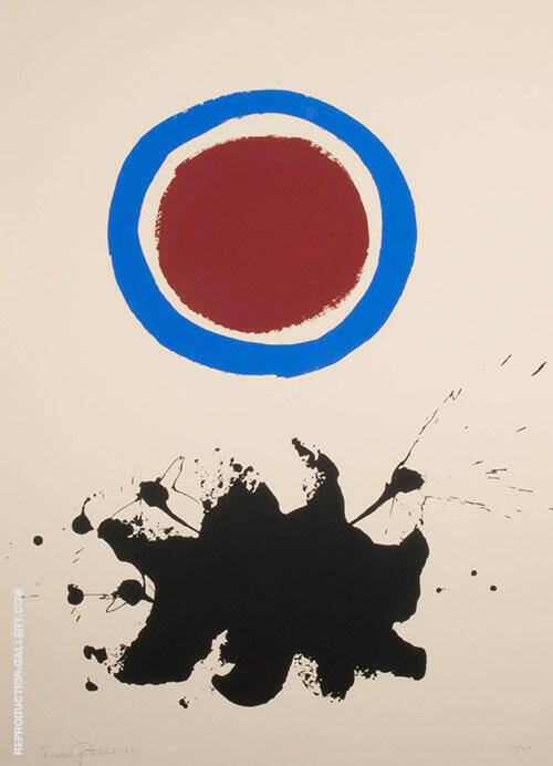 Blue Halo Painting By Adolph Gottlieb - Reproduction Gallery