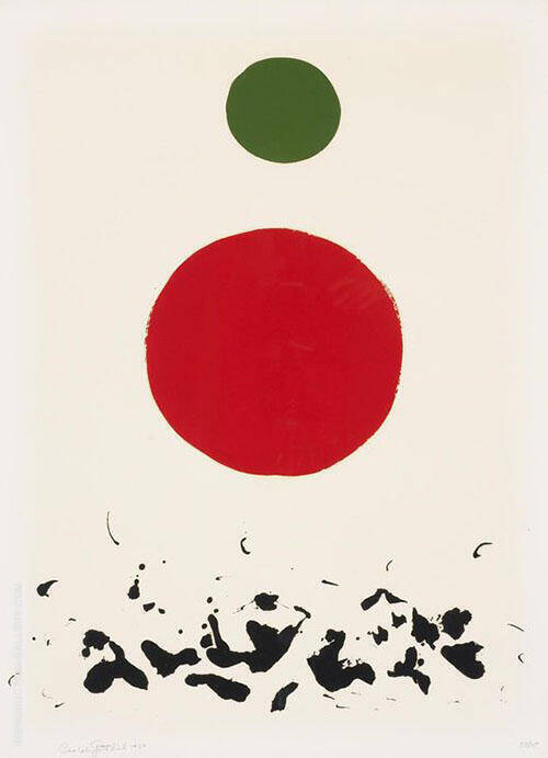 Flotsam 1967 Painting By Adolph Gottlieb - Reproduction Gallery