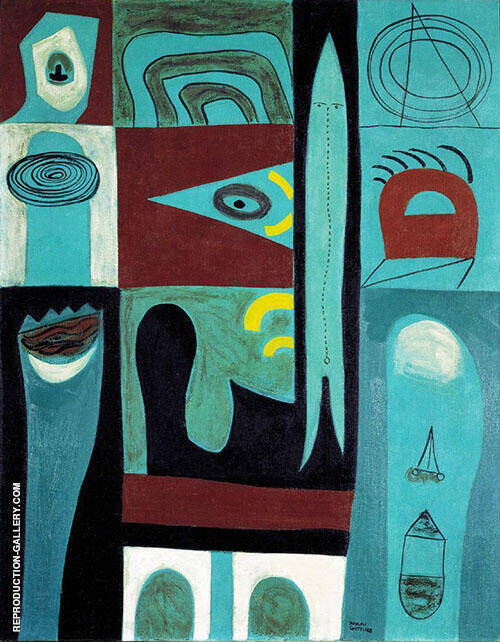 Night Voyage 1946 By Adolph Gottlieb