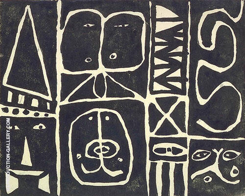 Pictograph 1946 Painting By Adolph Gottlieb - Reproduction Gallery