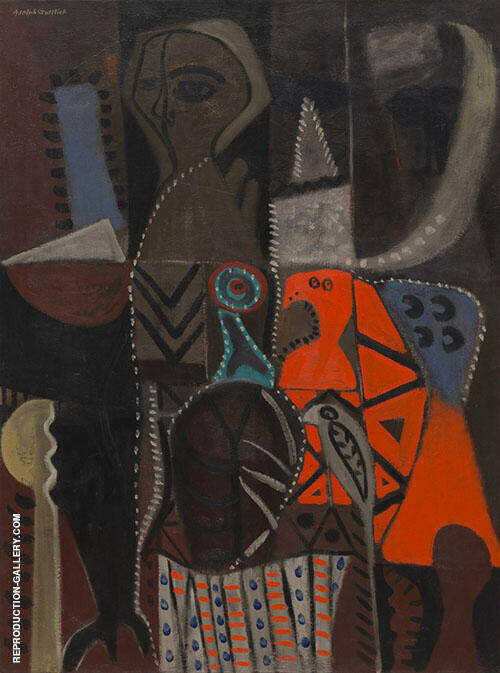 The Red Bird By Adolph Gottlieb