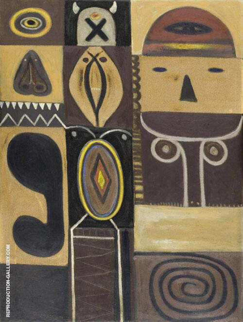 Totem 1947 Painting By Adolph Gottlieb - Reproduction Gallery